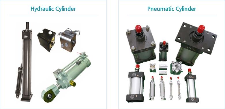Hydraulic Cylinder와 Pneumatic Cylinder